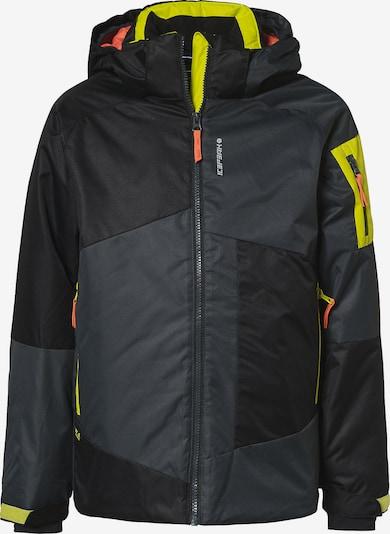 ICEPEAK Skijacke 'LEMPSTER' in neongelb / grau / orange / schwarz, Produktansicht