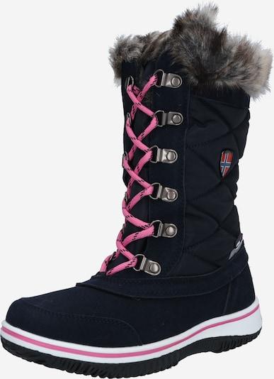 TROLLKIDS Boots 'Holmenkollen' in de kleur Navy / Magenta, Productweergave