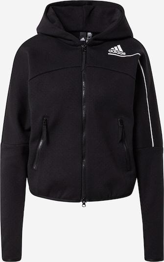 ADIDAS PERFORMANCE Sportsweatjacke 'Z.N.E.' in schwarz / weiß, Produktansicht