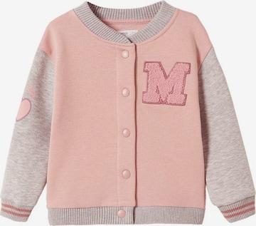 MANGO KIDS Sweatjacke in Pink