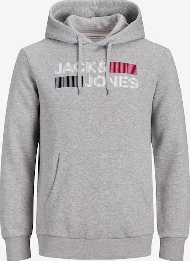 Jack & Jones Plus Sweatshirt in graumeliert / himbeer / schwarz / weiß, Produktansicht