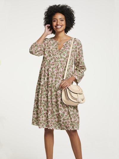 heine Kleid in beige / grün / rot, Modelansicht