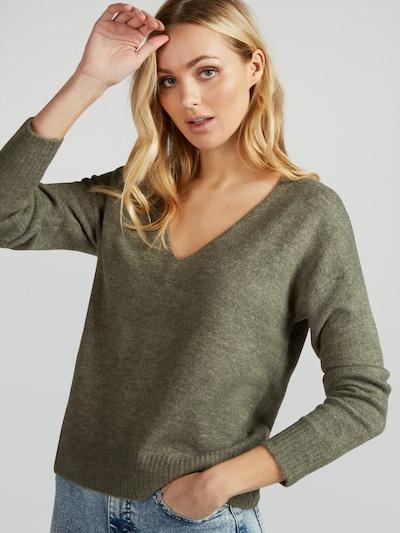 JDY Pullover 'Elanora' in khaki, Modelansicht