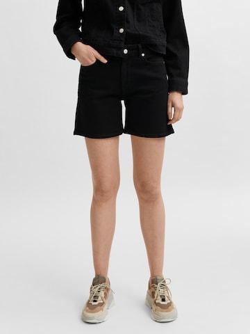 SELECTED FEMME Jeans 'Silla' in Zwart