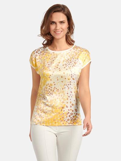 Basler Blusenshirt in braun / gelb / weiß, Modelansicht