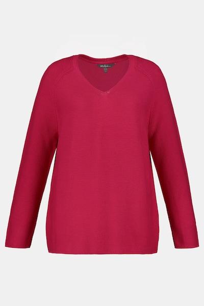 Ulla Popken Ulla Popken Damen große Größen Pullover 749099 in rot, Produktansicht