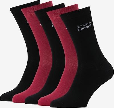 BRUNO BANANI Socken in rot / schwarz, Produktansicht