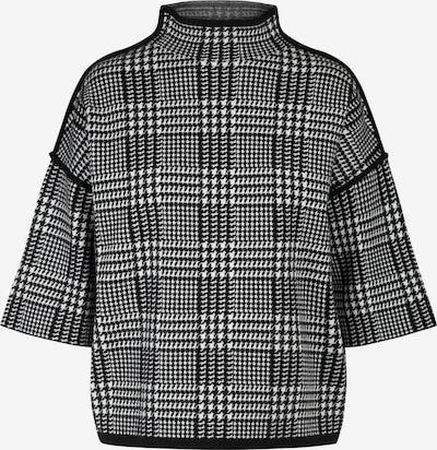 APART Oversized Pullover aus softer Viskose Mischung mit Kaschmir in creme / schwarz, Produktansicht