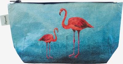 paprcuts Kulturbeutel 'Flamingo' in nachtblau / hellblau / dunkelblau / dunkelpink, Produktansicht