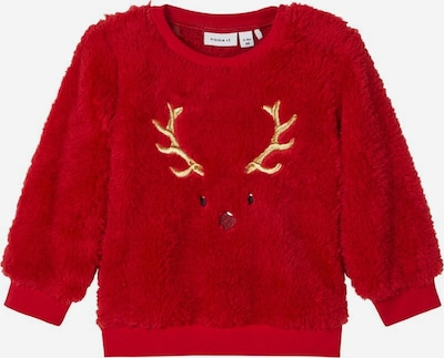 NAME IT Weihnachts Teddy Sweatshirt in rot, Produktansicht