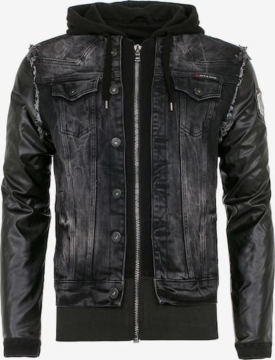 CIPO & BAXX Jeansjacke 'Blox' in schwarz, Produktansicht