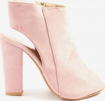 Fashion Peeptoe Pumps in 37 in Pink