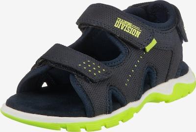 Sprox Sandale in dunkelblau / neongrün, Produktansicht