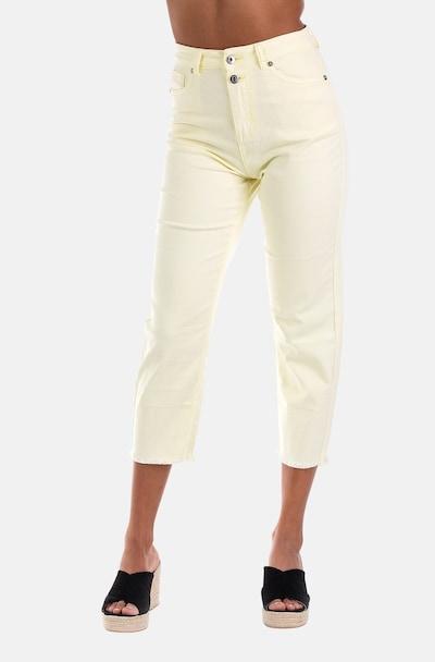 Blue Monkey 7/8 Highrise-Jeans Kayla in hellgelb, Modelansicht