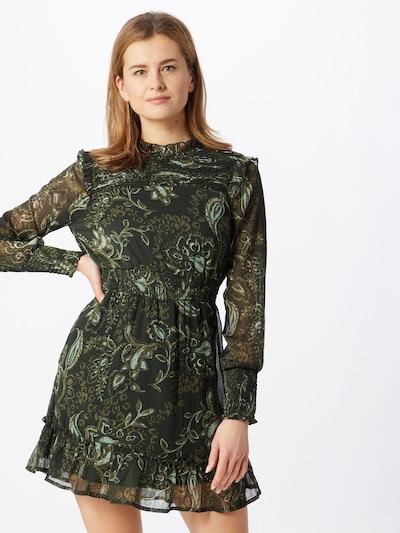 ONLY Kleid 'NANA' in oliv / dunkelgrün / weiß, Modelansicht