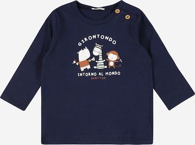 UNITED COLORS OF BENETTON Тениска в пясъчен / нейви синьо / киви / светлочервено / бяло, Преглед на продукта