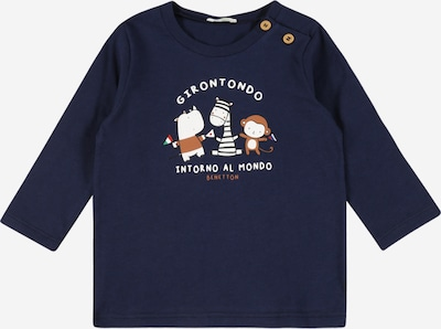 UNITED COLORS OF BENETTON T-Krekls zamša / kamuflāžas / kivi / gaiši sarkans / balts, Preces skats
