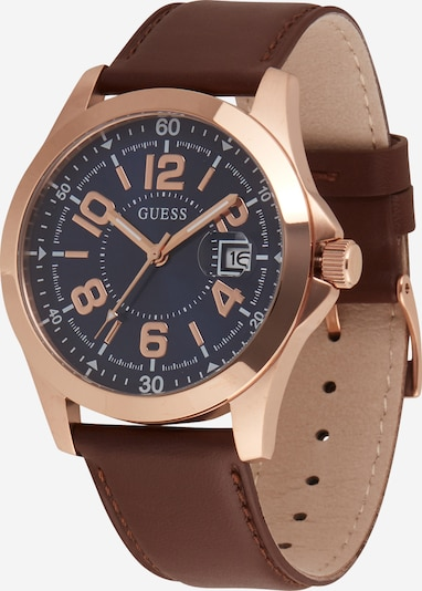 GUESS Analogové hodinky - modrá / hnědá, Produkt
