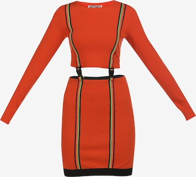 myMo ATHLSR Kleid in kiwi / neonorange / schwarz, Produktansicht