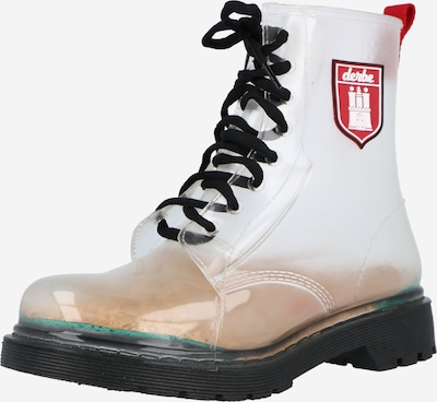Derbe Rubber boot 'Dr.Gum' in Red / Black / Transparent, Item view