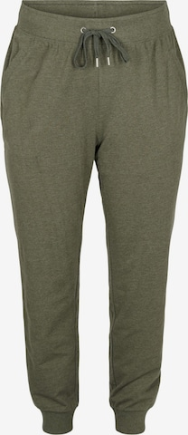 Active by Zizzi Workout Pants 'CADALIA' in Green