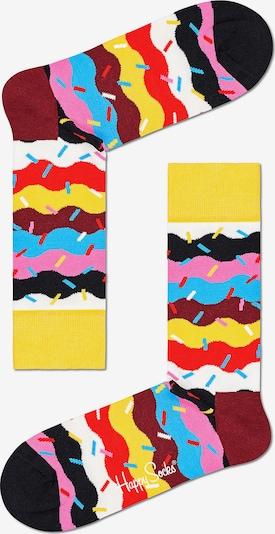 Happy Socks Socken in gelb / pink / schwarz, Produktansicht