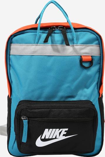 Nike Sportswear Rucksack 'TANJUN' in aqua / grau / orange / schwarz / weiß, Produktansicht