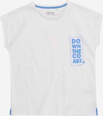 ESPRIT KIDS Shirt in himmelblau / weiß, Produktansicht