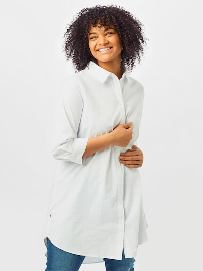 ONLY Carmakoma Bluse  'CARCORINNE 3/4 LONG SHIRT' in weiß, Modelansicht