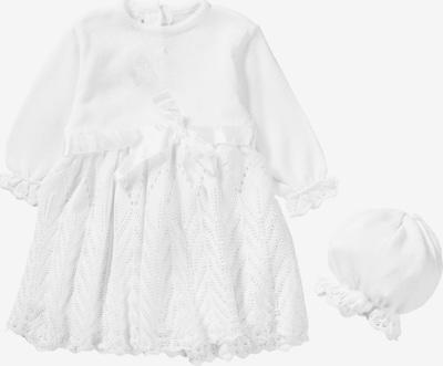 HOBEA-Germany Taufkleid + Mütze 'JOHANNA' in weiß, Produktansicht
