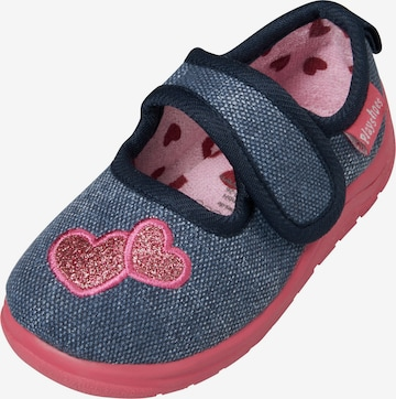 PLAYSHOES Slippers 'Herz' in Blue