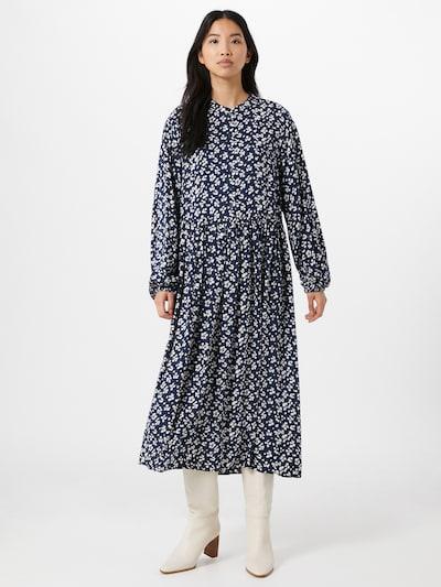 PIECES Kleid 'Nervia' in beige / dunkelblau / braun, Modelansicht