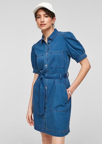 Q/S designed by Kleid in blue denim, Modelansicht