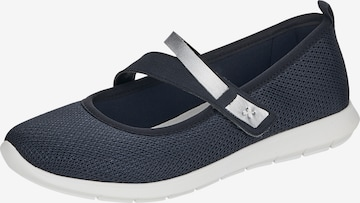 REMONTE Ballet Flats with Strap in Blue