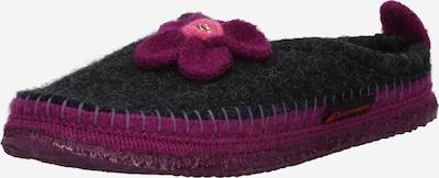 GIESSWEIN Hausschuh 'Norheim' in anthrazit / pink / rotviolett, Produktansicht