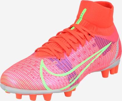 NIKE Voetbalschoen in de kleur Grijs / Neongroen / Donkerlila / Pink / Oranjerood, Productweergave