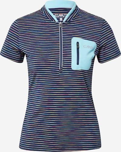 Tricou funcțional CMP pe navy / albastru deschis / gri / culori mixte, Vizualizare produs