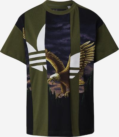 ADIDAS ORIGINALS T-shirt en marron / olive / violet foncé / noir / blanc, Vue avec produit