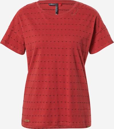 Ragwear T-Shirt 'CELEB' in knallrot / schwarz, Produktansicht