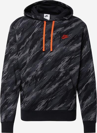 Hanorac sport Nike Sportswear pe gri / portocaliu / negru, Vizualizare produs