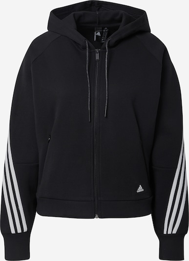 ADIDAS PERFORMANCE Sports sweat jacket in black / white, Item view