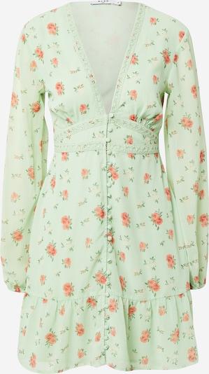 NA-KD Kleid in hellgrau / koralle / rostrot, Produktansicht