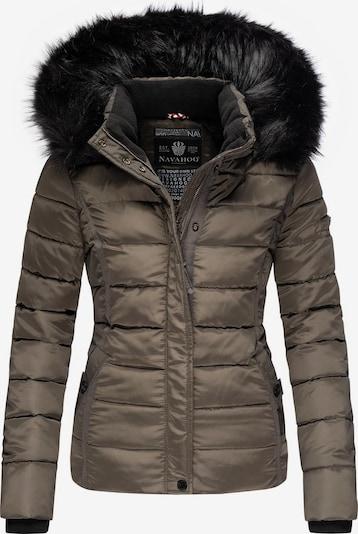 NAVAHOO Winterjas 'Miamor' in de kleur Greige / Zwart, Productweergave