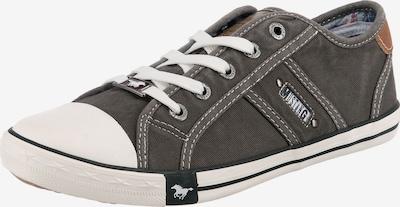 Sneaker bassa MUSTANG di colore grigio scuro: Vista frontale