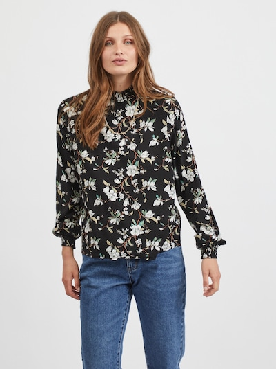 VILA Bluzka 'Lana' w kolorze mieszane kolory / czarnym, Podgląd na modelu(-ce)