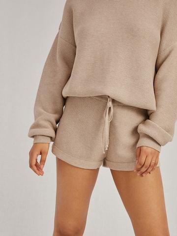 A LOT LESS Shorts 'Elena' in Beige