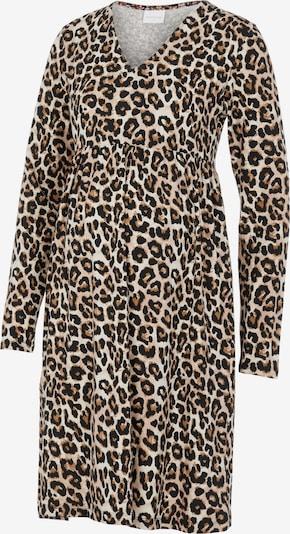 MAMALICIOUS Robe 'Sannie' en crème / noisette / noir, Vue avec produit