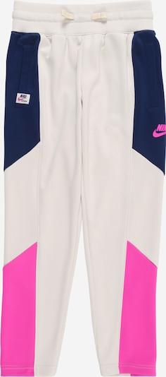 Nike Sportswear Hlače   bež / mornarska / roza barva, Prikaz izdelka