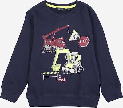 BLUE SEVEN Sweatshirt in navy / hellgelb / hellgrau / pastellrot / weiß, Produktansicht