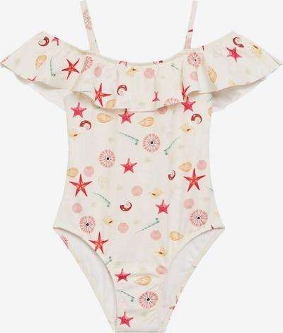 MANGO KIDS Badeanzug in nude / mischfarben, Produktansicht